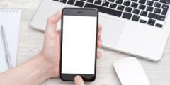 スマートフォンでお問い合わせをするイメージ