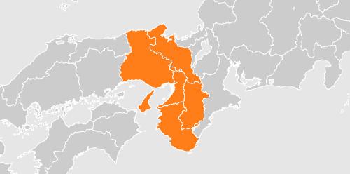 不用品回収可能エリアを示した地図